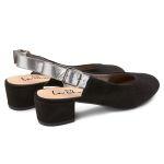 Sling-Pumps Schwarz – modischer und bequemer Schuh für Hallux valgus und empfindliche Füße von LaShoe.de