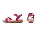 Sandale auf Mini-Keilabsatz Pink – modischer und bequemer Schuh für Hallux valgus und empfindliche Füße von LaShoe.de