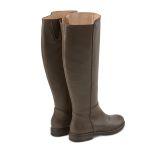 Langschaftstiefel weiter Schaft Dunkelbraun – modischer und bequemer Schuh für Hallux valgus und empfindliche Füße von LaShoe.de