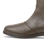 Langschaftstiefel extraweiter Schaft Dunkelbraun – modischer und bequemer Schuh für Hallux valgus und empfindliche Füße von LaShoe.de