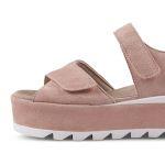 Sandale Leder-Plateau Rosé – modischer und bequemer Schuh für Hallux valgus und empfindliche Füße von LaShoe.de