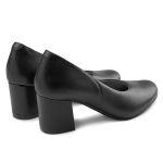 Pumps mit Softfußbett auf Blockabsatz Schwarz – modischer und bequemer Schuh für Hallux valgus und empfindliche Füße von LaShoe.de