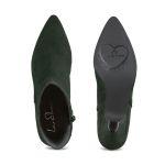 Stiefelette mit Kitten-Heel Grün – modischer und bequemer Schuh für Hallux valgus und empfindliche Füße von LaShoe.de