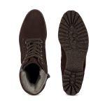 Lammfell Schnürboot Braun – modischer und bequemer Schuh für Hallux valgus und empfindliche Füße von LaShoe.de