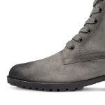 Lammfell Schnürboot Grau  – modischer und bequemer Schuh für Hallux valgus und empfindliche Füße von LaShoe.de
