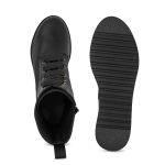 Schnürboot auf Plateausohle Schwarz – modischer und bequemer Schuh für Hallux valgus und empfindliche Füße von LaShoe.de