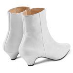 Stiefelette mit Kitten-Heel Weiß – modischer und bequemer Schuh für Hallux valgus und empfindliche Füße von LaShoe.de