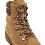 Schnürbootie Hiking Senfgelb – modischer und bequemer Schuh für Hallux valgus und empfindliche Füße von LaShoe.de