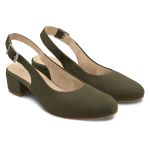 Sling Pumps Khaki – modischer und bequemer Schuh für Hallux valgus und empfindliche Füße von LaShoe.de