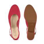 Sling Pumps Himbeerrot – modischer und bequemer Schuh für Hallux valgus und empfindliche Füße von LaShoe.de
