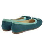 Ballerina mit Doppelschleife Grün – modischer und bequemer Schuh für Hallux valgus und empfindliche Füße von LaShoe.de