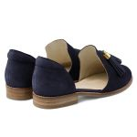 Slipper mit Tasseln Marine – modischer und bequemer Schuh für Hallux valgus und empfindliche Füße von LaShoe.de