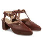 Sandale Almondshape Rostrot – modischer und bequemer Schuh für Hallux valgus und empfindliche Füße von LaShoe.de