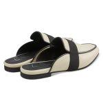 Mule Black and White  – modischer und bequemer Schuh für Hallux valgus und empfindliche Füße von LaShoe.de