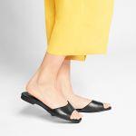 Mule Squaretoe Schwarz – modischer und bequemer Schuh für Hallux valgus und empfindliche Füße von LaShoe.de