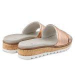 Pantolette mit Wechselfußbett Rosé Metallik – modischer und bequemer Schuh für Hallux valgus und empfindliche Füße von LaShoe.de