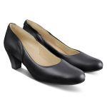 Klassischer Pumps mit Softfußbett Schwarz – modischer und bequemer Schuh für Hallux valgus und empfindliche Füße von LaShoe.de