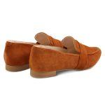 Loafer spitz Nubuk Cognac – modischer und bequemer Schuh für Hallux valgus und empfindliche Füße von LaShoe.de