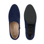 Stiefelette mit V-Cut-Out Marine – modischer und bequemer Schuh für Hallux valgus und empfindliche Füße von LaShoe.de