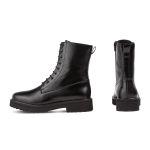 Schnürboot im Combat-Style Schwarz – modischer und bequemer Schuh für Hallux valgus und empfindliche Füße von LaShoe.de