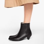 Stiefelette mit Kitten-Heel Glattleder Schwarz – modischer und bequemer Schuh für Hallux valgus und empfindliche Füße von LaShoe.de