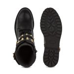 Schnürboot mit Schnallen und Nieten Schwarz – modischer und bequemer Schuh für Hallux valgus und empfindliche Füße von LaShoe.de