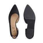 Ballerina mit Cut-Out Schwarz – modischer und bequemer Schuh für Hallux valgus und empfindliche Füße von LaShoe.de