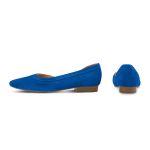 Ballerina mit Cut-Out Blau – modischer und bequemer Schuh für Hallux valgus und empfindliche Füße von LaShoe.de