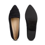 Femininer Loafer Classic Schwarz – modischer und bequemer Schuh für Hallux valgus und empfindliche Füße von LaShoe.de