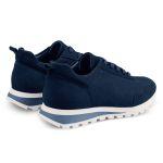 Sneaker Leder Classic Marine – modischer und bequemer Schuh für Hallux valgus und empfindliche Füße von LaShoe.de