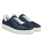 Sneaker Retro mit Kontrastferse Marine – modischer und bequemer Schuh für Hallux valgus und empfindliche Füße von LaShoe.de