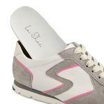 Premium Sneaker Colourline Weiß/Grau – modischer und bequemer Schuh für Hallux valgus und empfindliche Füße von LaShoe.de