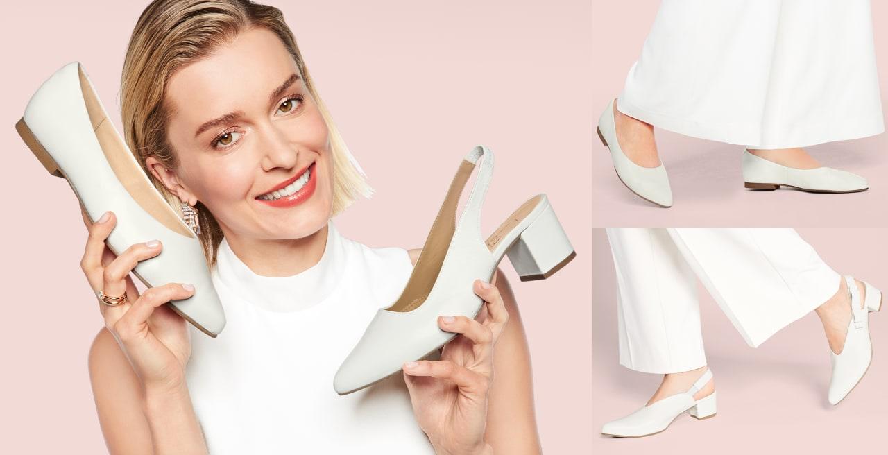 Entdecken Sie Schuhe für anspruchsvolle Füße und Hallux valgus in der heißesten Trendfarbe dieses Sommers: Weiß