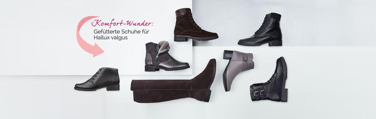 Gefütterte Schuhe für Hallux valgus und empfindliche Füße