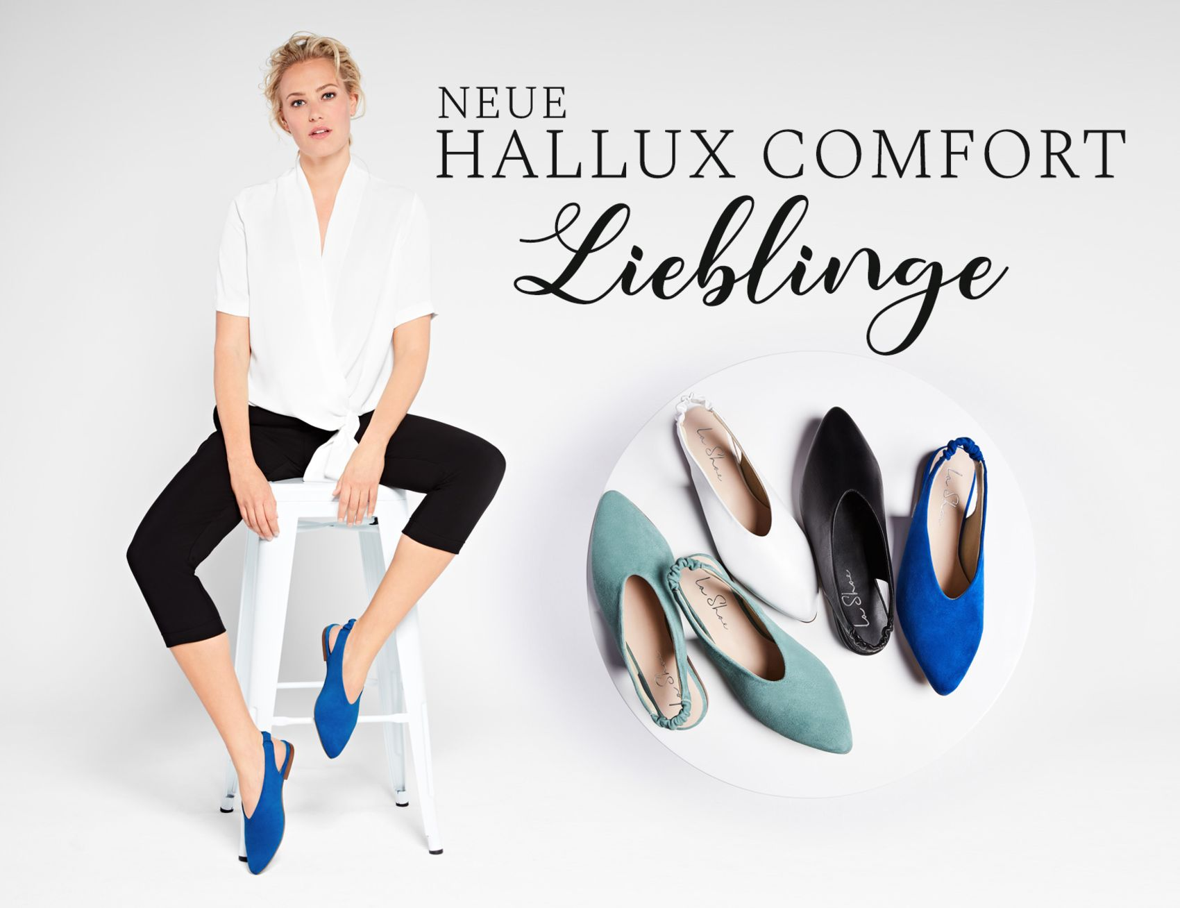 Entdecken Sie die bequemen Hallux Backsling Slipper von LaShoe
