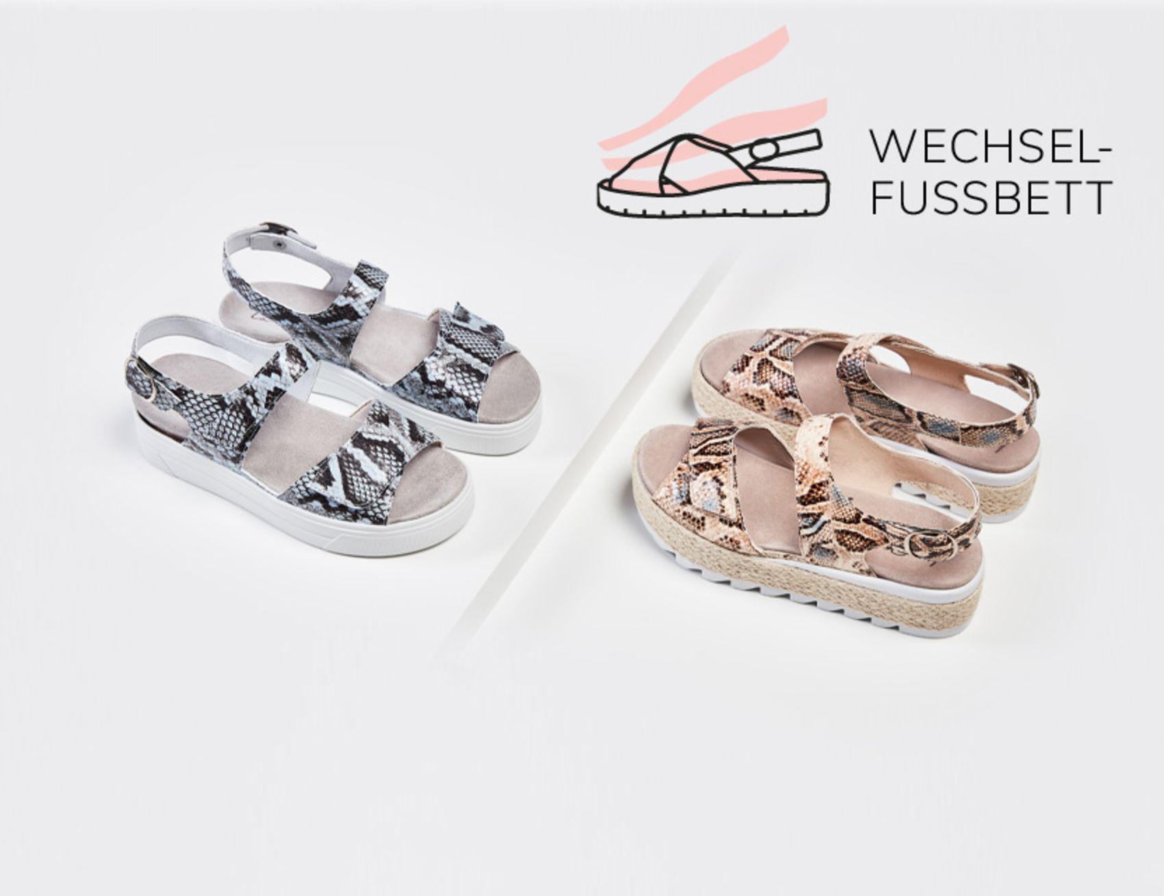 Sandalen mit Wechselfußbett von LaShoe entdecken!