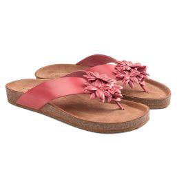Flip Flop mit Blüten Koralle