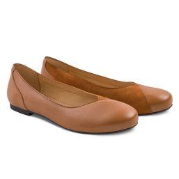 Ballerina Materialmix Cognac