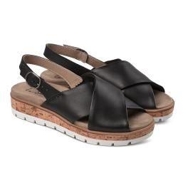 Sandale Kreuzriemen Schwarz