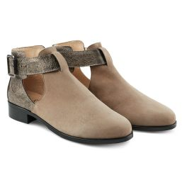 Boot mit Cut-Outs Taupe