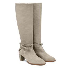 Femininer Stiefel mit Schleifendetail Creme