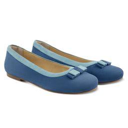 Ballerina mit Doppelschleife Blau