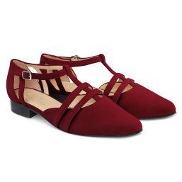Ballerina T-Strap Rot
