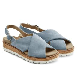 Sandale Kreuzriemen Hellblau