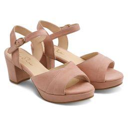 Sandale mit Plateauabsatz Rosa