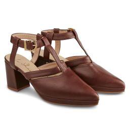 Sandale Almondshape Rostrot