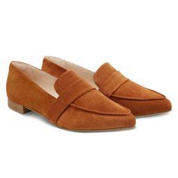 Loafer spitz Nubuk Cognac