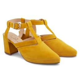 Sandale Almondshape Gelb