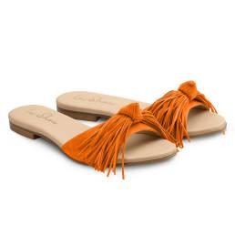 Slide mit Fransen Orange