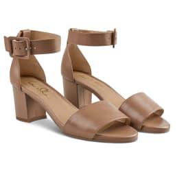 Sandalette mit Fesselriemchen Nude